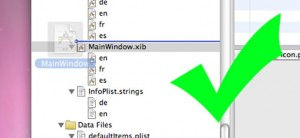 Correct place to drop the .xib file (click to zoom)