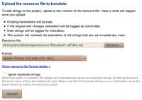 Resource file upload