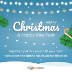 Spread your Holiday greetings all over the world